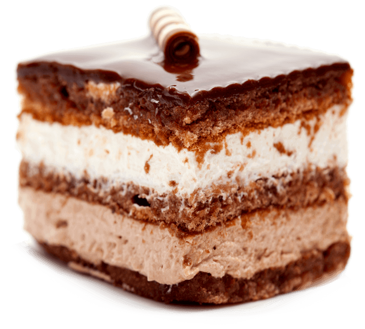 Layers of sponge soaked with coffee liqueur